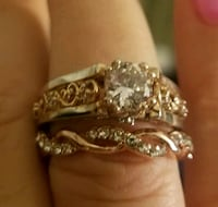 Rose gold wedding set Jurupa Valley