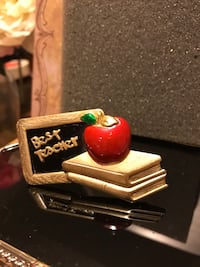 Cute!!  Adorable!! Gold Teacher Pin