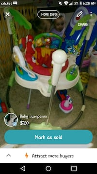 baby's white and green jumperoo screenshot