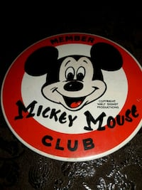 Mickey Mouse Club MEMBER button