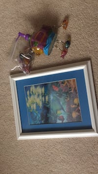 Fish picture, soap pump and shower curtain holders Maple Ridge, V4R 0B1