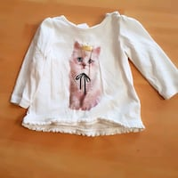 4-6 month cat graphic white long-sleeved shi Napanee, K7R 3L2