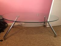 black metal base glass top table Mississauga, L4W 5H4