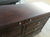 Brown wooden 3-drawer chest