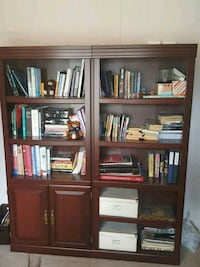 Beautiful wood bookcases OBO