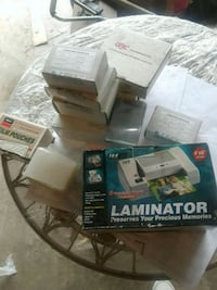 Card laminator with 100 pouches