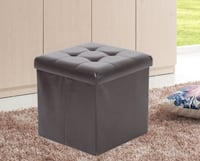 "15"" Tufted Square St Storage Ottoman"