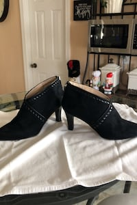 Booties size 10, only worn once, zipper in back of heel