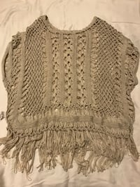 brown knit poncho 多伦多, M2N 7C2