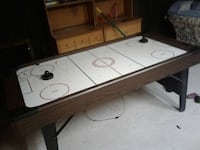 white brown and red air hockey table 1812 mi