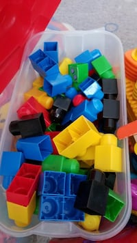 assorted-color of interlocking block toy set Calgary, T3R 0E6