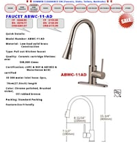 SUMMER CLEARANCE ON KITCHEN AND SHOWERS FAUCETS Milton