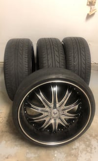 """5/114 and 5/120 rims Tires and rims 22"""" 245/30zr22 Charlotte, 28277"""