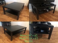 black wooden TV stand with shelf Houston, 77025