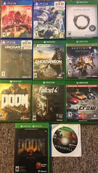 PS4 XBox 1 Games Riverside, 92507