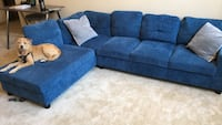 Blue sectional sofa with ottoman Braintree, 02184