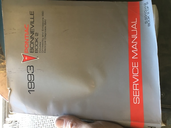 used 1993 pontiac boneville book 2 service manual book for sale in tulare -  letgo