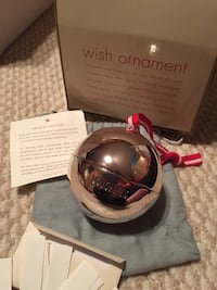 """Great gift in box. Red envelope sterling silver wish ornament. Write your wishes down put them inside this beautiful ornament. Includes tags to write wishes on. Keepsake drawstring bag. Small stand if you decide not to hang it. Outside is engraved with """"w Manheim, 17545"""