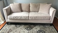 white leather 3-seat sofa Ashburn, 20147