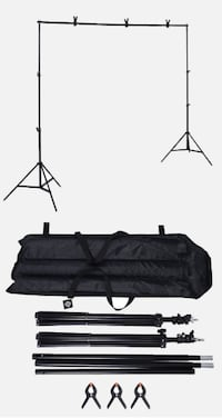 New 10 Feet Adjustable Backdrop Crossbar Frame Kit with Carrying Bag South El Monte