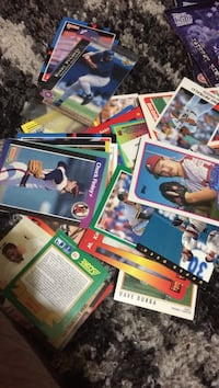 Box of assorted baseball cards make an offer want them gone