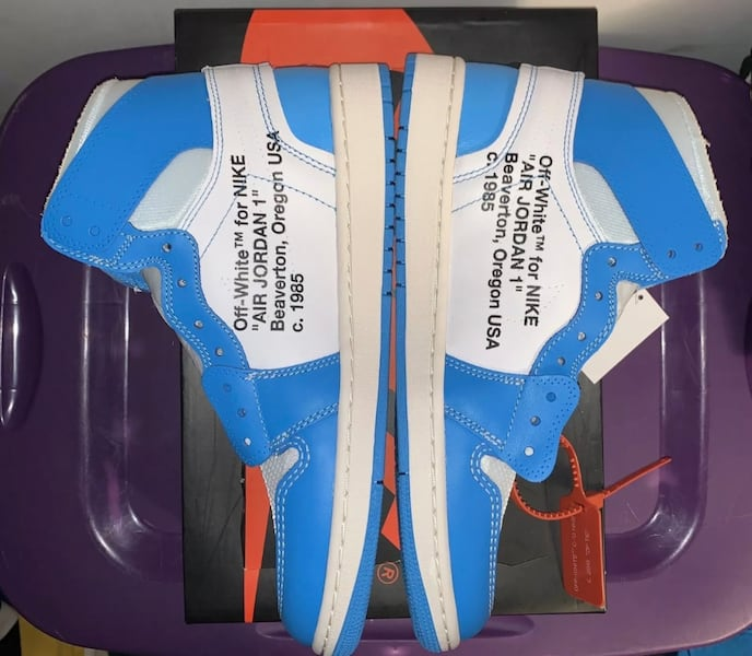 Air jordan 1 UNC off white size 10 3