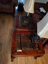 Cofee table, end tables and lamp set