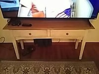 brown wooden 2-drawer console table Peoria Heights, 61616