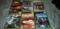 six Xbox 360 game cases Waterloo, N2J 2A2