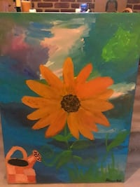orange, blue, and green floral painting Washington, 20012