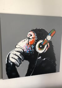Monkey DJ rolled canvas painting  New York, 10065