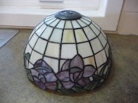 Vintage Stained Glass Lamp or Ceiling Shade PALMERTON