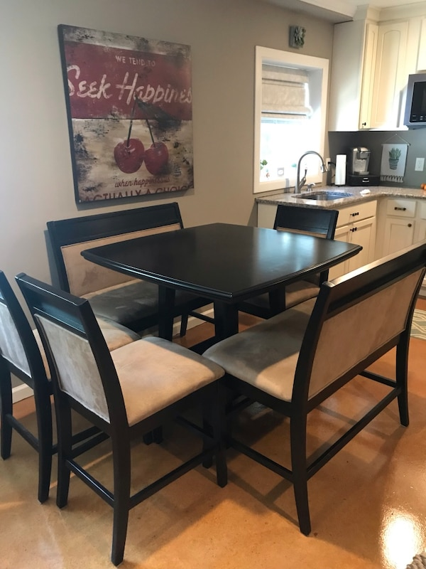 Amazing Counter Height Square Dining Table Set Benches Chairs Theyellowbook Wood Chair Design Ideas Theyellowbookinfo