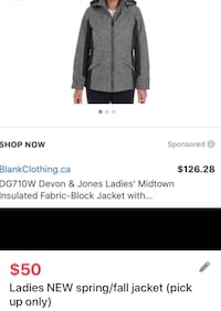 New Ladies fall/spring jacket with hood size medium (pick up only) Toronto, M6L 2N5