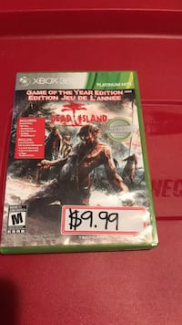 Xbox 360 Dead Island game case Burlington, L7M