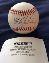 Mike Stanton Signed Baseball Yankees Smithtown, 11787