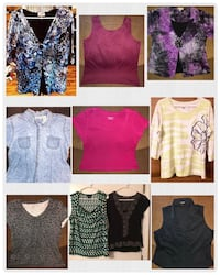 assorted color clothes lot collage