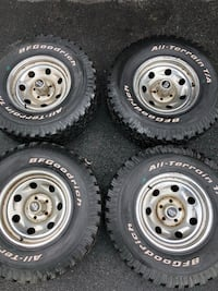 Four BFGoodrich 31x10.5x15 tires and American racing steel wheels  Alexandria, 22309
