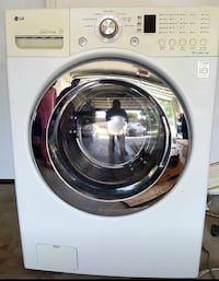 white Samsung front-load clothes washer Brownsville, 78520