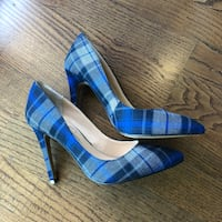 Shoes - blue plaid pattern 5.5 Toronto, M5C