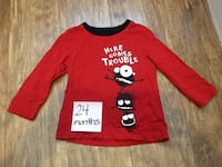 red and white crew neck long sleeve shirt Winnipeg, R2L