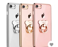 three silver, gold, and rose gold iPhone 7 with clear cases Baltimore, 21215