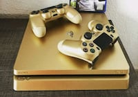 Gold ps4 slim with controllers Washington