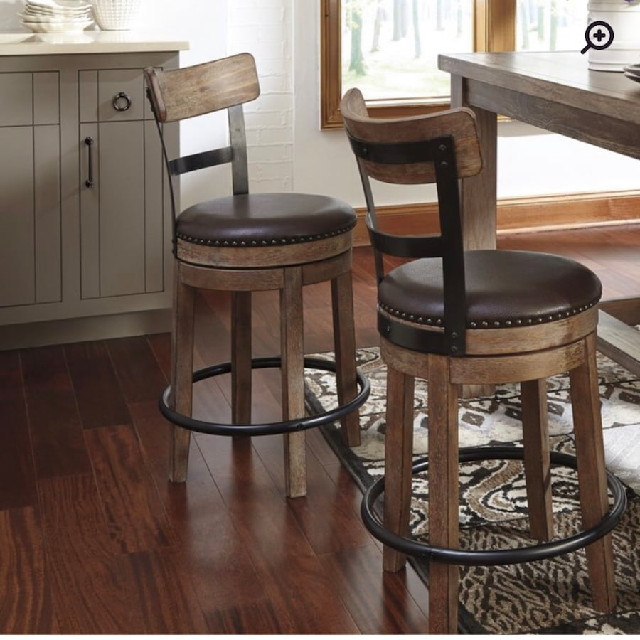 Goethe Bar & Counter Swivel Stool.