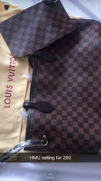 Damier Ebene Louis Vuitton leather crossbody bag Toronto, M1G