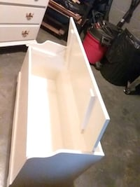 Wood  toy box  painted white  21 high 41 long 16 deep Hagerstown
