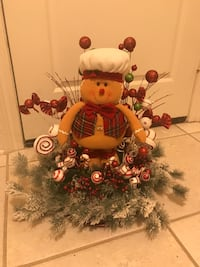 brown and red plush toy wreath