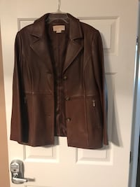Michael Kors Leather Jacket (New) Frederick, 21704