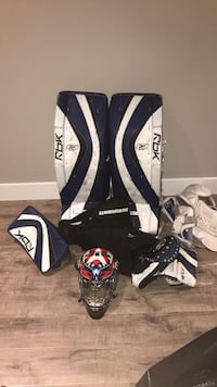 36 inch Rbk Goalie Pads (blue and white) Coquitlam, V3J 1W3