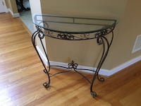 Glass table with metal frame Columbia, 21044